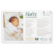 Naty by Nature Babycare Size 1 Newborn Nappies 2-5kg 26 per pack