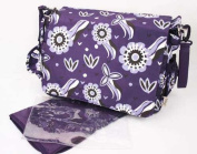 New 4PCS Baby Changing Bags Nappy Bag Messager Bag - Purple