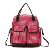 Hoxis Multifunction Polka Dots Baby Boom Backpack Nappy Bag