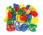 26 Plastic Playdough Cookie Cutters A-Z Lower Case Alphabet Letters