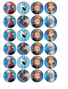 24 Disney Frozen Cupcake Toppers