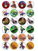 24 Mario Kart Cupcake Toppers