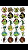 24 Ninja Turtles Cupcake Toppers