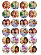 24 Lego Friends Cupcake Toppers