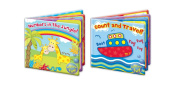 """First Steps"" Pack of 2 Floating Bath Book Educational & Fun Bath Toy for Babies & Toddlers"
