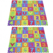 2 X CHILDREN KIDS ALPHABETS NUMBERS LETTER SOFT FOAM PLAY MAT JIGSAW GAME NEW