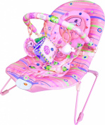 Baby Vibrating Musical Bouncy Chair, Bouncer Chair, Bouncing Chair Bright Pink