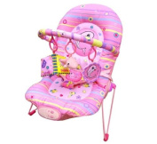 Baby Rocker Bouncer Reclining Chair Soothing Music Viberation Toys IN PINK