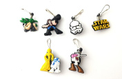 6 pcs Star Wars Zipper Pull / Zip pull Charms for Jacket Backpack Bag Pendant