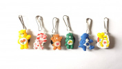 6 pcs Sweet Care Bears Zipper Pull / Zip pull Charms for Jacket Backpack Bag Pendant