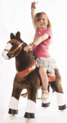 Ponycycle Toy Ride on Pony Horse Brown Medium