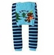 BABY TODDLER INFANT LEGGINGS TIGHTS PANTS UNISEX WITH ADORABLE ANIMAL DESIGN BEAR SMILE MEDIUM
