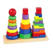 Wooden Geometric Stacker