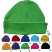 Newborn Baby Beanie Hat s (GREEN) - Plain Soft 100% Cotton headwear New Baby Grow Boy Clothing Girl Cute Mum Dad Mummy Daddy Custom Parent Birth Gift bib Present by Fonfella