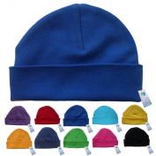 Newborn Baby Beanie Hat s (ROYAL) - Plain Soft 100% Cotton headwear New Baby Grow Boy Clothing Girl Cute Mum Dad Mummy Daddy Custom Parent Birth Gift bib Present by Fonfella