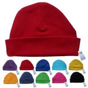 Newborn Baby Beanie Hat s (RED) - Plain Soft 100% Cotton headwear New Baby Grow Boy Clothing Girl Cute Mum Dad Mummy Daddy Custom Parent Birth Gift bib Present by Fonfella