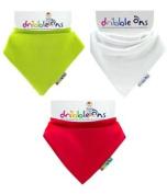 Dribble Ons Christmas Bandana Bib - Red, Green & White - ** 3 PACK *.