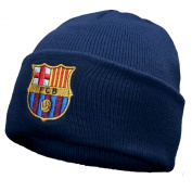 FC Barcelona Official Football Gift Knitted Bronx Beanie Hat Navy
