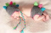 Photography Prop Dinosaur Costume Cute Crochet Knitted Baby Hat Cap Girl Boy