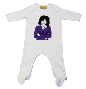 Marc Bolan Purple Suit Baby Grow White 3-6