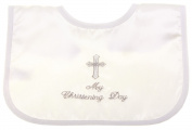 My christening day white christening bib