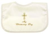 My Christening Day Ivory Bib For Boys And Girls