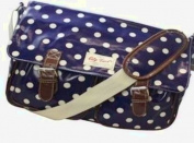 City Girl Polka Dot, Flower (Floral) Satchel/ Ladies Girls Spot Print Large Shoulder Bag / School (University) Cross Body Bag