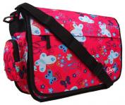 New Girls Womens Chervi Butterfly Hearts School College Laptop Satchel Messenger Bag