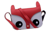 niceeshop(TM) Carton Cute Fox Owl Design Retro Shoulder Messenger Bag PU Leather Crossbody Fashion Satchel Animal Handbag