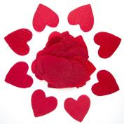 Red Heart Shaped Silk Petals