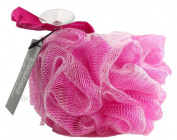 Large Exfoliating Body Puff / Scrunchie /Buffer - Pink - Bath & Shower