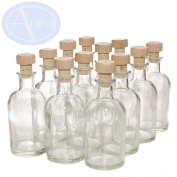 PACK of 12 - LOVELY 100ml Italian Bottles with Wooden Topped Corks