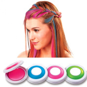 NEW KIDS GIRL WOMENS HOT HUEZ SET OF 4 BRIGHT PARTY COLOURS TEMPORARY HAIR CHALK