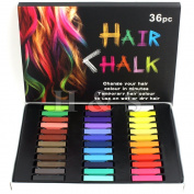 H & S® Temporary Hair Dye Pastel Chalk 12 / 24 / 36 Colours Kit Set