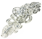 Vintage Rose and Diamanté Hair Clip
