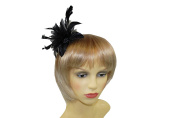 Pretty Cool - Flower & Feather Fascinator