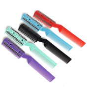 Hair Razor Grooming Comb With Blades For Trimming Thinning For Hairdressing DIY