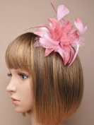 Allsorts® Dusky Pink Feather Comb Fascinator Brooch Pin Ladies Day Royal Ascot Weddings