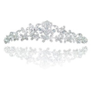 Delicate Dainy Floral Crystal Bridal Prom Wedding Tiara with PreciousBags Dust Bag