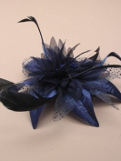 Allsorts® Navy Blue Feather Comb Fascinator Ladies Day Royal Ascot Weddings
