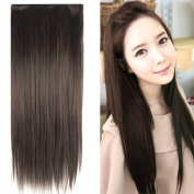 TRIXES 60cm Stylish Straight Hair Extensions Dark Brown Hair Piece