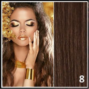Athenia® 60cm inch Clip in Futura Hair Extensions - Unique Six Piece Full Head set - ** 150 grammes of hair per pack** - Heat Style up to a Massive 200 Degrees - Superior Salon Quality - Looks & Feels Like Real Hair! - Colour #8 Medium Brown
