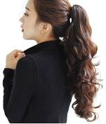 PRETTYSHOP 60cm & 145g Hair Piece Pony Tail Extension Very Long & Voluminous Curled Wavy Heat-Resisting Like Real Human Hair