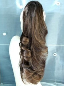 Forever Young Dark Medium Brown Mix Clip In Pony Tail Hair Extension