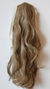 60cm & 100g Hair Piece Clip In Pony Tail Extension Very LONG & SEXY Curled Wavy Heat-Resisting Like Real Human Hair (blonde #16