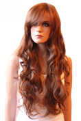 PRETTYSHOP Fashion Lady Wig Long Hair Cosplay Curled Wavy Heat-Resistant Like Real Human Hair Diverse Colours
