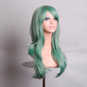 Tengs Medium Long Wavy Full Wig