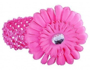 Crocheted Hairband With Beautiful Large Daisy Flower For Baby Girl Woman, One Size