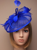 Allsorts® Large Royal Blue Hat Fascinator Weddings Ladies Day Race Royal Ascot