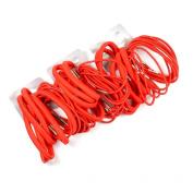 54 x Thick & Thin Red Hair Elastics/ Bobbles